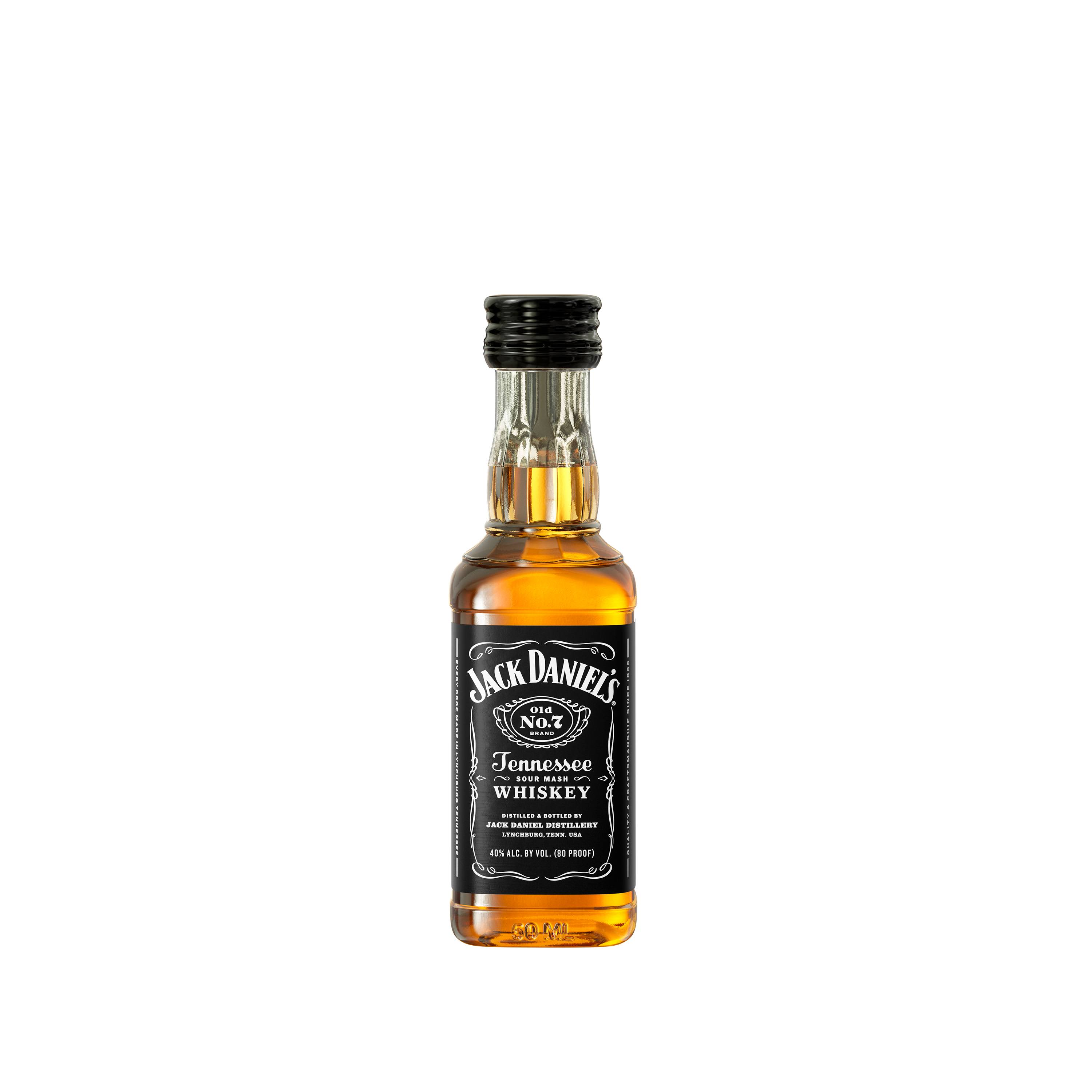Jack Daniels Old No. 7 Whiskey, Tennessee Whiskey - 12 pack, 50 ml bottles
