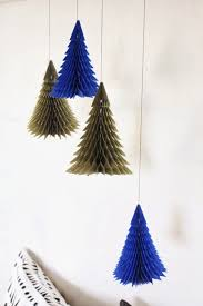 1pc New Navy Gold Honeycomb Christmas Tree Decorations Tissue Rh Aliexpress Com Feather Trees For Table Size