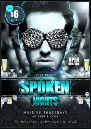 Spoken Nights PSD Flyer Template