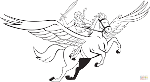 Remarkable Pegasus Coloring Pages Unique Disney Hercules Design Printable