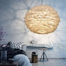 nordic design pendant light white feather hanging l modern