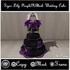 Tiger Lily PurpleNBlack Gothic Wedding Cake Purplenblack Pic Snapshot 003 002 001