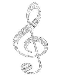 Sol And Fa Key Coloring Pages Adult Book Music Art