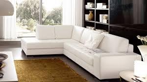 canapé d angle de qualité canapé angle en simili cuir vachette blanc