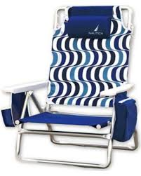 don t miss this deal on nautica 5 position beach chair in blue