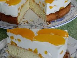 pfirsich joghurt torte mit vanillehauch seelenschein