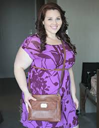 plus size ootd casual purple party dress sarah rae vargas