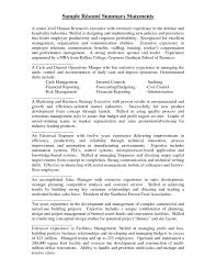 100 Resume Summary Examples Entry Level Statement