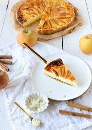 milchreis käsekuchen mit äpfeln und zimt blogevent