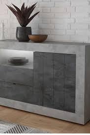 sideboard akinasa in beton grau und dunkelgrau 2 türig