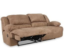 ashley hogan mocha two seat reclining sofa mathis brothers furniture