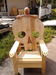 Pallet Adirondack Chair Plans by Skull Chair Adirondack Chair Yard Furniture Solid Wood