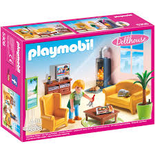 dollhouse wohnzimmer mit kaminofen 5308