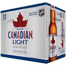 Molson Canadian Light Lager Beer 12 12 fl oz Bottles Walmart