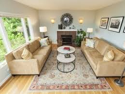 Light Hardwood Floors Persian Rug Couches