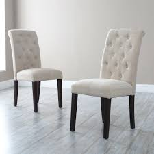 Walmart Leather Dining Room Chairs by Innovative Morgana Beige Tufted Parsons Dining Chair Set Of 2
