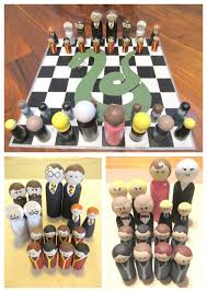 Diychristmascrafts DIY Easy Harry Potter Peg People Chess Set And Case Tutorial From Instructables Here
