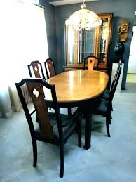 Thomasville Dining Room Chairs Used Sets Furniture Mid Century Table 6 Set