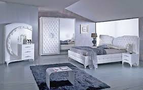 schlafzimmer anatalia in weiss silber modern komplett schlafzimmer ebay
