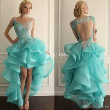 2015 high low ball gown 8th college homecoming dresses mint
