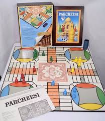 PARCHEESI Board Game Wooden Box Vintage Collection 100 Complete Hasbro