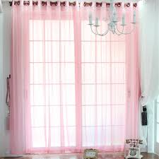 Beautiful Solid Pink sheer curtains for Girls Bedrooms