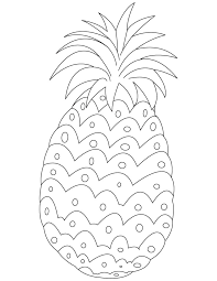 Fresh Pineapple Coloring Pages