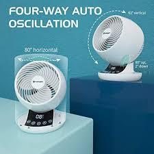 ventilator leise fitfort turbo ventilator eco mode tischventilator 12 geschwindigkeiten luftzirkulations ventilator 12h timer luftzirkulator mit