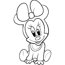 Pretentious Design Ideas Coloring Pages Draw Minnie Mouse Baby And Teddy Page Disney