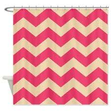Chevron Print Shower Curtains by Coral Pink And Orange Chevron Shower Curtain Orange Chevron And