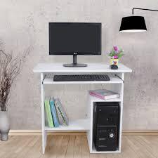 bureau ordinateur blanc songmics bureau informatique table meuble de pour ordinateur blanc
