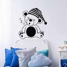 stickers ours chambre bébé sticker ours dormeur stickers bébés fille ambiance sticker