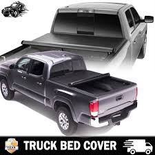 Soft Roll-up Truck Bed Tonneau Cover 5-1/2ft Bed Cover For 2004-2014 ...