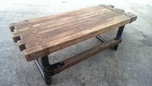 Cedar Steel Rustic Industrial Desk 039 Style