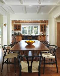 Farmhouse Kitchen Cabinets Dining Room With Barstool Chair Cottage Craftsman Image By Union Studio Architecture Community Design