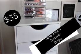 Desk Drawer Organizer Ikea by 35 Ikea Alex 5 Drawer Dupe Affordable Makeup Collection Storage