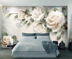 3d wandbild blumen tapete wandbild tapete für schlafzimmer