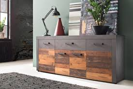 sideboard indy trendteam wood graphit grau matera