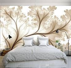 großhandel moderner minimalist 3d einfache blumen kundenspezifische tapete für wände 3 d schlafzimmer fernsehhintergrund der fototapete 3d