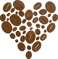 Coffee Coffe Beans Heart Drawing