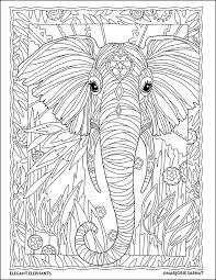 Jungle Portrait The Art Of Marjorie Sarnat Elegant Elephants Coloring Book By