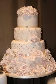 beautiful ivory wedding cake with flowers