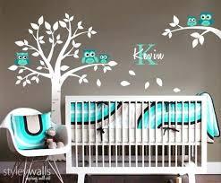 Cool Owl Nursery Decor Wall Stickers White Owl Baby Nursery