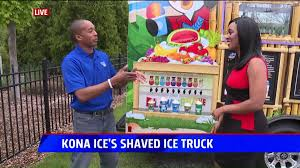 Kona Ice's Shaved Ice Truck | Fox17 Kona Ice Truck Stock Photo 309891690 Alamy Breaking Into The Snow Cone Business Local Cumberlinkcom Cajun Sisters Pinterest Island Flavor Of Sw Clovis Serves Up Shaved Ice At Local Allentown Area Getting Its Own Knersville Food Trucks In Nc A Fathers Bad Experience Cream Led Him To Start One Shaved In Austin Tx Hanfordsentinelcom Town Talk Sign Warmer Weather Is On Way Chain