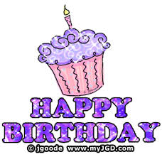 Animated Birthday Clip Art Purple Happy Birthday Clipart