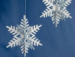 Let It Snow 3D Paper Snowflake Ornaments Kids Crafts Tips