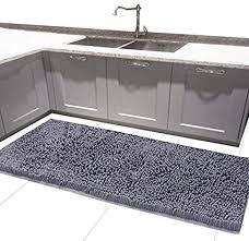 mayshag badteppich läufer badezimmer teppiche chenille küche weich saugfähig haarverdichtung shaggy teppich mikrofaser dusche teppich grau 50 8