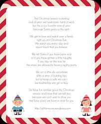 Elf The Shelf Wel e Letter A Little Moore