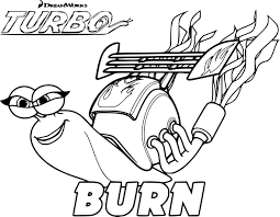 Coloriage Turbo Burn à Imprimer Sur COLORIAGES Info