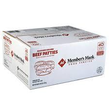 Sams Club Small Deck Box by Member U0027s Mark Seasoned Ground Beef Patties 1 4 Lb Patties 40 Ct